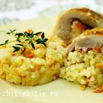 Рис с курицей: приготовление и красивая подача
