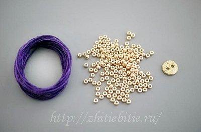 0016 Мастер класс: плетеный браслет с бисером (фото)