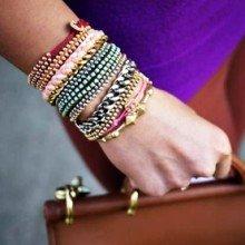 Мастер-класс: плетеный браслет с бисером (фото)