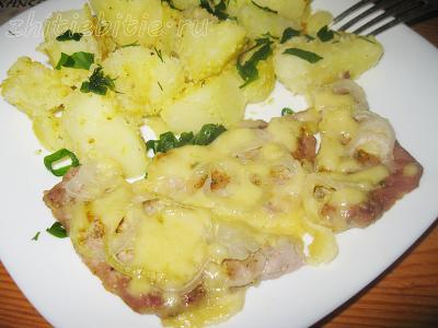Отбивные из свинины с сыром и луком (фото +видео)