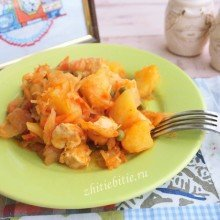 Овощной микс с куриным филе (+фото)
