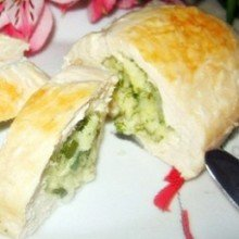 Куриные кармашки с сыром и зеленью
