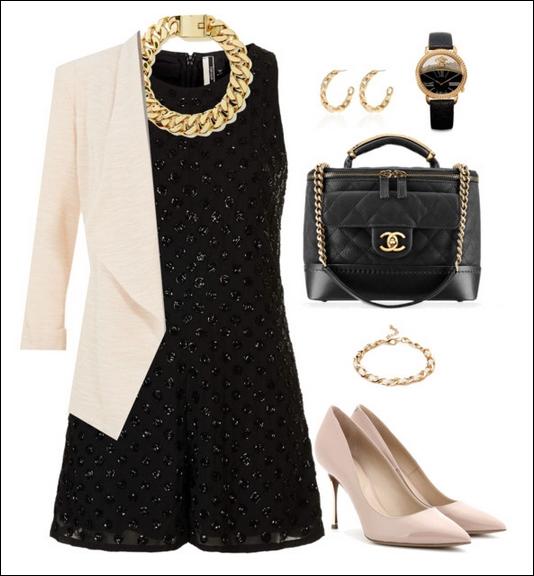 Платье классическое украсить