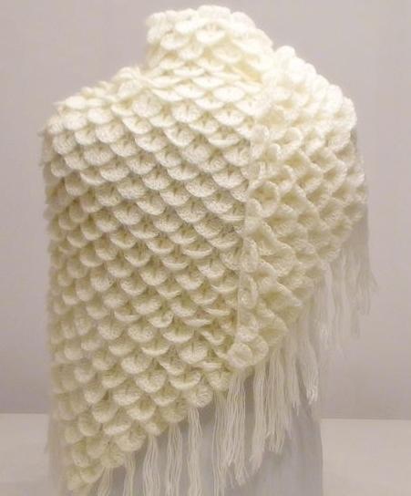 1126 Идеи для творчества: вязаные шали крючком (фото)