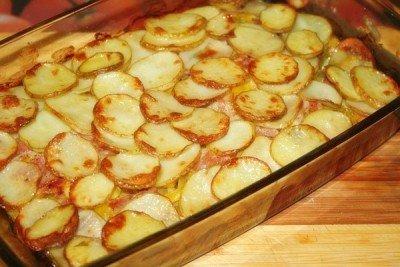 Летнее рагу из свежих овощей с беконом