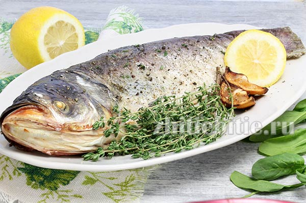 Рыба, запеченная в соли в духовке