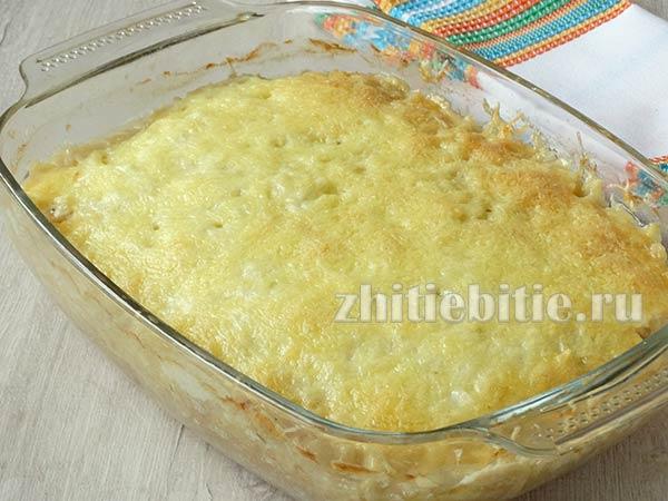 Запеканка с куриным фаршем и картофелем