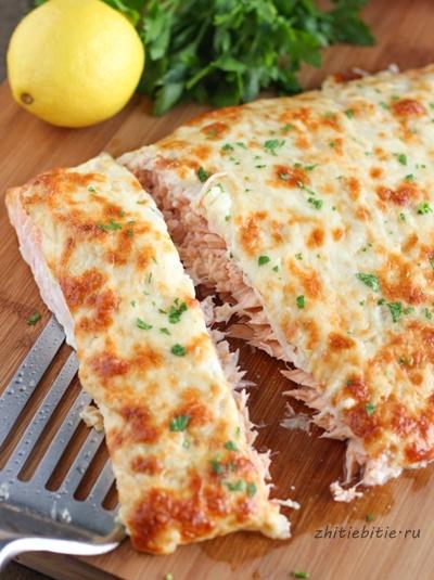 семга в сырной корочке рецепты