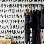 Черно-белый контраст обоев в интерьере (+фото)
