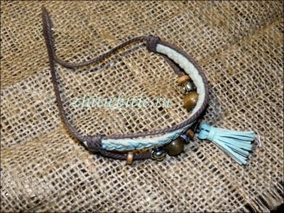 Мастер класс: браслет из кожи и бусин (+фото)