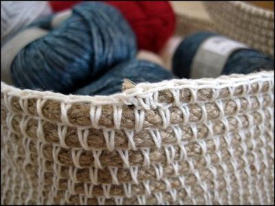 Корзина из пеньковой веревки своими руками (+фото)