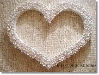 Мастер-класс по изготовлению рамки-сердца для свадебной фотосессии