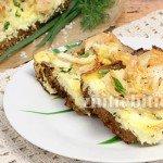 Омлет с хлебом и курицей в духовке