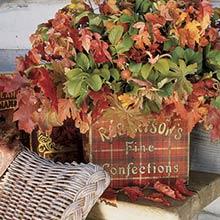 Осенний декор балкона