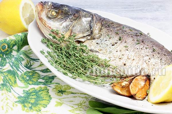 Рыба, запеченная под солью