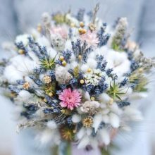 Красивый букет из сухих цветов